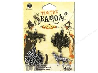Cousin Corporation of America Animals: Cousin Tis The Season Halloween 2014 Charms Metal Silver/Antique Gold Tree/Wolf