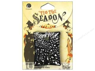 Cousin Season Halloween Crackle Glass Black/Silver