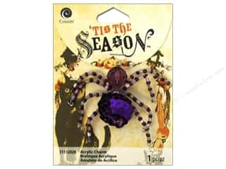 Halloween Beading & Jewelry Making Supplies: Cousin Tis The Season Halloween 2014 Charm Bead Spider Purple