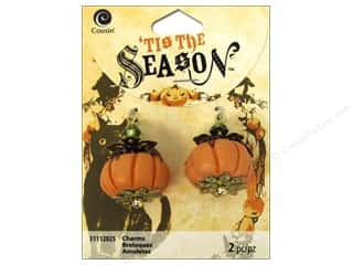 Halloween Beading & Jewelry Making Supplies: Cousin Tis The Season Halloween 2014 Charms Bead Pumpkin