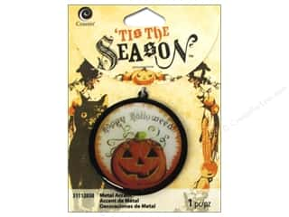 Charms and Pendants Halloween: Cousin Tis The Season Halloween 2014 Accent Pumpkin Black
