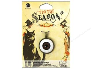 Charms and Pendants Brown: Cousin Tis The Season Halloween 2014 Accent Metal Acrylic Eyeball Antique Gold
