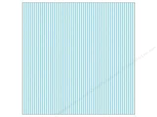 Canvas Corp 12 x 12 in. Paper Blue & Ivory Ribbon Stripe (15 piece)