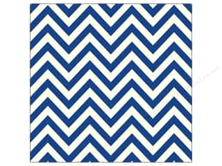 Papers Blue: Canvas Corp 12 x 12 in. Paper Navy & Ivory Chevron (15 pieces)