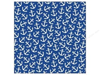 Papers Blue: Canvas Corp 12 x 12 in. Paper Navy & Ivory Anchor (15 pieces)