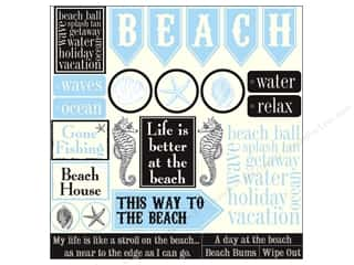 Canvas Home Basics Beach & Nautical: Canvas Corp 12 x 12 in. Paper Ivory Beach Sampler (15 pieces)