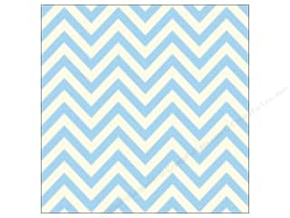 Canvas Home Basics Blue: Canvas Corp 12 x 12 in. Paper Blue & Ivory Chevron (15 pieces)