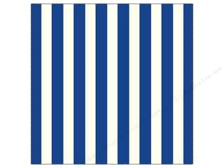 Papers Blue: Canvas Corp 12 x 12 in. Paper Navy & Ivory Big Stripe (15 pieces)