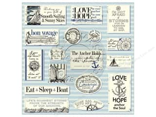 Beach & Nautical inches: Canvas Corp 12 x 12 in. Paper Nautical Sayings On Ivory (15 pieces)