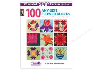 CD Rom Leisure Arts Books: Leisure Arts 100 Any-Size Flower Blocks Book