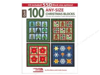 Printing Art Accessories: Leisure Arts 100 Any-Size Christmas Blocks Book