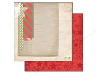 Transportation Bo Bunny 12 x 12 in. Paper: Bo Bunny 12 x 12 in. Paper Christmas Collage (25 pieces)