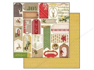 Labels Christmas: Bo Bunny 12 x 12 in. Paper Christmas Collage Glad Tidings (25 pieces)