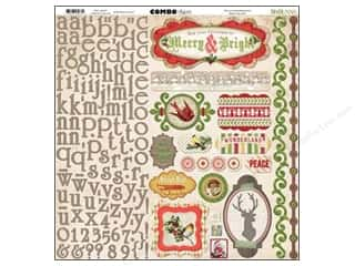 Bo Bunny Stickers: Bo Bunny Stickers Christmas Collage Combo (12 pieces)