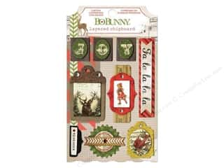 Bo Bunny Christmas: Bo Bunny Chipboard Stickers Layered Christmas Collage