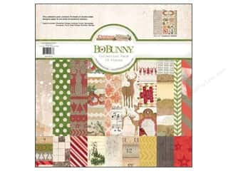 Holiday Sale Designer Papers & Cardstock: Bo Bunny 12 x 12 in. Paper Collection Pack Christmas Collage