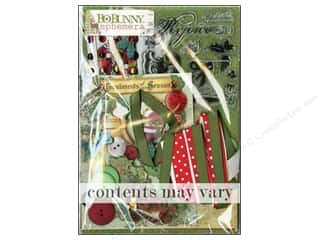 Christmas Burgundy: Bo Bunny Ephemera Christmas Collage