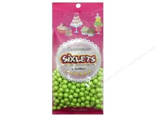 SweetWorks Celebration Sixlets 14oz Shim Lime Grn