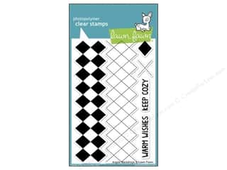 Straight Stitch Rubber Stamping: Lawn Fawn Clear Stamp Backdrops Argyle