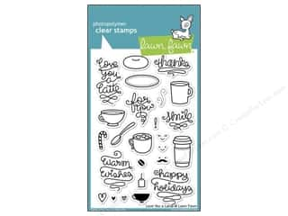 Tea & Coffee Sizzix Die: Lawn Fawn Clear Stamp Love You A Latte