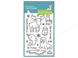 Winter Clear: Lawn Fawn Clear Stamp Critters In The Arctic