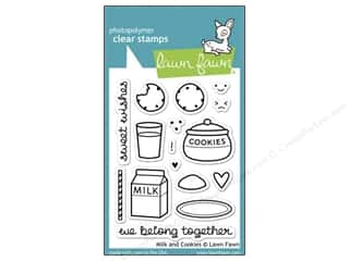 Clearance Plaid Stamps Clear: Lawn Fawn Clear Stamp Milk & Cookies