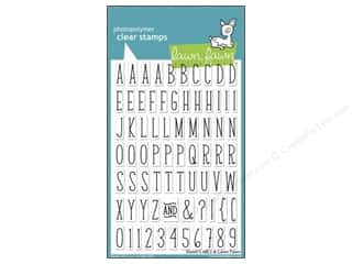 ABC & 123 $4 - $6: Lawn Fawn Clear Stamp Violet's ABC's