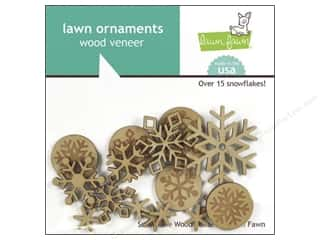 Wood Burning $0 - $5: Lawn Fawn Lawn Ornaments Veneer Snowflakes