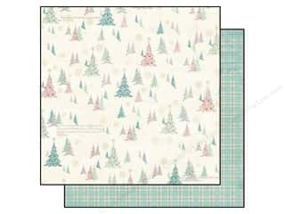 Bo Bunny 12 x 12 in. Paper Candy Cane Lane Frosty (25 piece)
