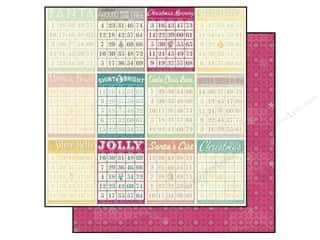ABC & 123 Holiday Sale: Bo Bunny 12 x 12 in. Paper Candy Cane Lane Holiday (25 pieces)