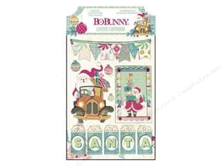 Bo Bunny Chipboard Stickers Layered Candy Cane Lane