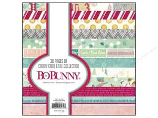 Bo Bunny 6 x 6 in. Paper Pad Candy Cane Lane