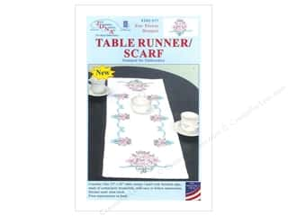 Stamped Goods Stamped Tablecloths: Jack Dempsey Table Runner/Scarf Star Flower Bouquet