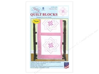 "Jack Dempsey Stamped Quilt Blocks: Jack Dempsey Quilt Block 18"" 6pc White Woven Star"