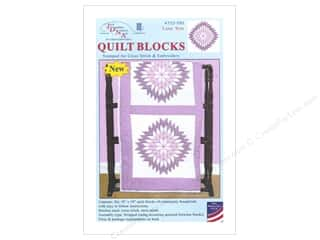 "Stamped Goods Stamped Quilt Tops: Jack Dempsey Quilt Block 18"" 6pc White Lone Star"