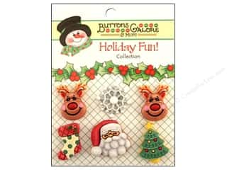 Buttons Galore Holiday Fun Buttons 6 pc. Reindeer Games