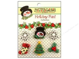 Winter Wonderland Paper: Buttons Galore Holiday Fun Buttons 6 pc. Winter Wonderland