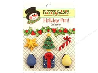 Cutters Brown: Buttons Galore Holiday Fun Buttons 6 pc. Good Tidings
