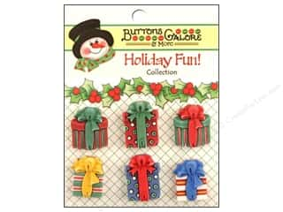 buttons: Buttons Galore Holiday Fun Buttons 6 pc. Christmas Presents