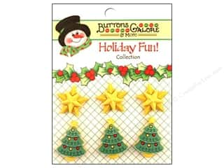 Buttons Galore Holiday Fun Buttons 6 pc. Star Of Wonder