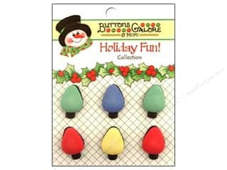 Buttons Galore Holiday Fun Buttons 6 pc. Tree Lights