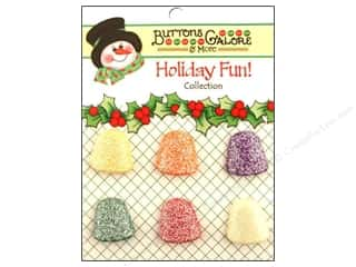 Buttons Galore & More $5 - $6: Buttons Galore Holiday Fun Buttons 6 pc. Gumdrops