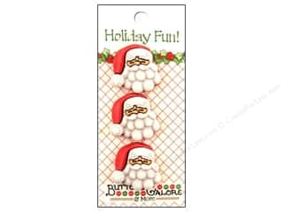 Buttons Galore Holiday Fun Buttons 3 pc. Fun Santa