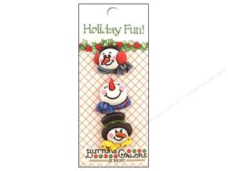 Buttons Galore Holiday Fun Buttons 3 pc. Snowmen