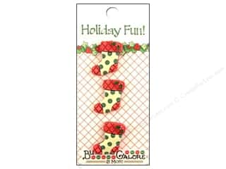 Buttons Galore Holiday Fun Buttons 3 pc. Stockings
