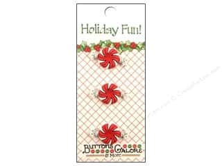 Buttons Galore & More Christmas: Buttons Galore Holiday Fun Buttons 3 pc. Peppermint Candy