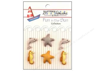 Buttons Galore Fun In The Sun Buttons 6 pc. Under The Sea
