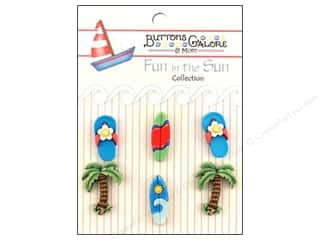 Buttons Galore Fun In The Sun Buttons 6 pc. Paradise Found