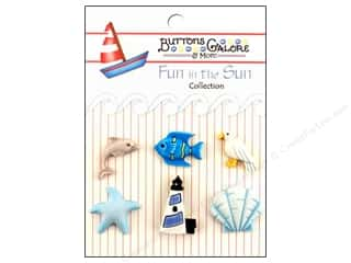 Beach & Nautical Sewing & Quilting: Buttons Galore Fun In The Sun Buttons 6 pc. By The Sea
