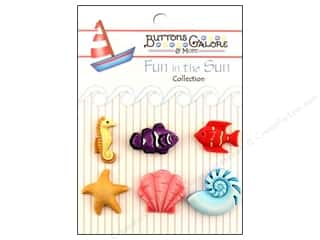 Buttons Galore Fun In The Sun Buttons 6 pc. Ocean Wonders